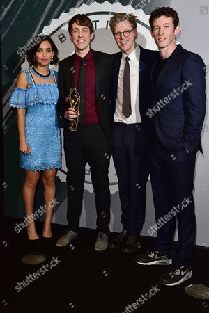 Peter Middleton and James Spinney collect the award for Best British Documentary presented by Georgina Campbell and Callum Turner at The British Independent Film Awards (BIFA) at Old Billingsgate, London on the 4th December 2016.