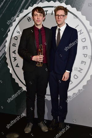 Peter Middleton and James Spinney collect the award for Best British Documentary at The British Independent Film Awards (BIFA) at Old Billingsgate, London on the 4th December 2016.