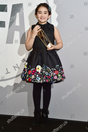 Avin Manshadi with her award for Best Supporting Actress  at The British Independent Film Awards (BIFA) at Old Billingsgate, London on the 4th December 2016.