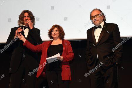 Alessandro Bertolazzi and Giorgio Gregorini with Laura Delli Colli