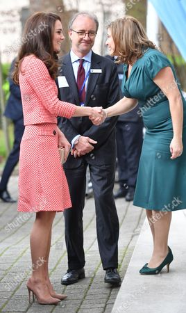 Catherine Duchess of Cambridge meets CEO and Founder of Best Beginnings, Alison Baum