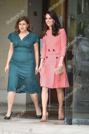 Stock Photo of CEO and Founder of Best Beginnings, Alison Baum and the Catherine Duchess of Cambridge