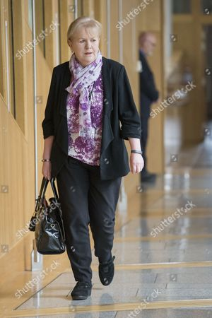 Stock Photo of Johann Lamont makes her way to the Debating Chamber