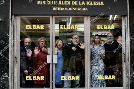 Jaime Ordonez, Terele Pavez, Carmen Machi, Spanish director Alex de la Iglesia, Blanca Suarez and Joaquin Climent.