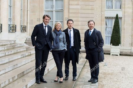 Francois Baroin, Claire Chazal, Marc-Olivier Fogiel and Stephane Bern