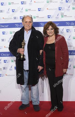 Stock Picture of Antonello De Leo and Laura Delli Colli
