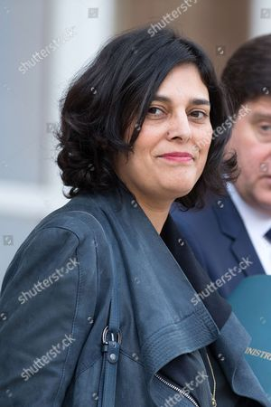 French Labour Minister Myriam El Khomri leaves the Elysee Presidential Palace after the weekly cabinet meeting