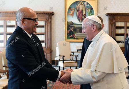 Jioji Konousi Konrote and Pope Francis