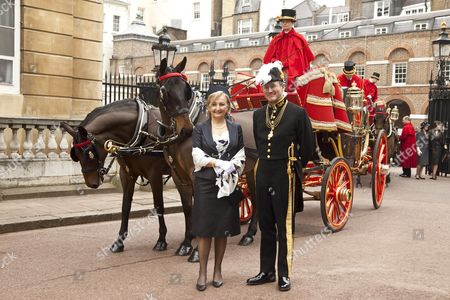 Jadranka Negodic with Her Majesty's Marshal of the Diplomatic Corps, Mr Charles Gray, at St. James's Palace