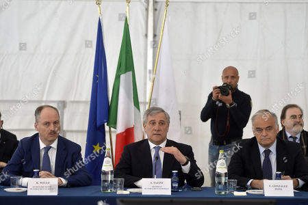The General Secretary of European Parliament Klaus Welle, President of European Parliament Antonio Tajani and Vice President of PPE group Esteban Gonzalez Pons