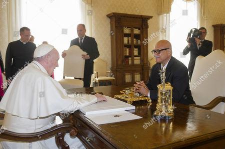 Editorial picture of Pope Francis meets Fiji's President Jioj Konousi, Vatican, Rome, Italy - 24 Mar 2017