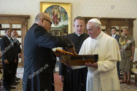 Editorial photo of Pope Francis meets Fiji's President Jioj Konousi, Vatican, Rome, Italy - 24 Mar 2017