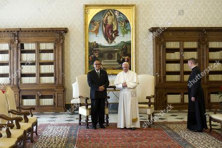 Editorial image of Pope Francis meets Fiji's President Jioj Konousi, Vatican, Rome, Italy - 24 Mar 2017