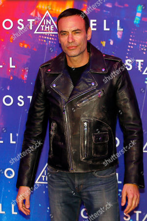 Anthony Delon poses during a photocall for the french premiere of 'Ghost in the Shell' in Paris