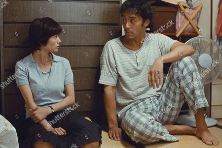 Stock Picture of Yoko Maki, Hiroshi Abe