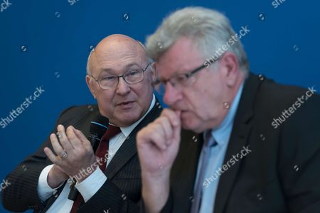 Stock Picture of Michel Sapin and Christian Eckert