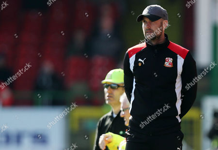 Swindon Manager Luke Williams during the Sky Bet League One match between Swindon Town and Millwall played at the County Ground, Swindon on 25th March 2017
