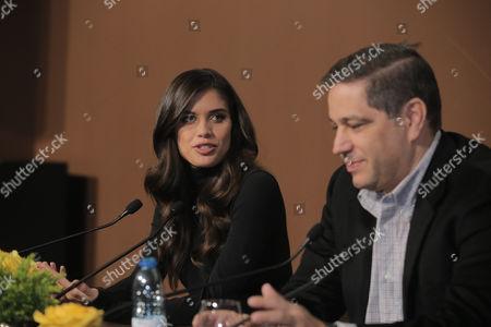 Stock Photo of Sara Sampaio and Mario Ferreira