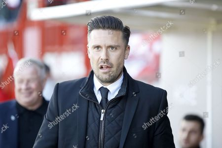 Leyton Orient manager Danny Webb during the EFL Sky Bet League 2 match between Crawley Town and Leyton Orient at the Checkatrade.com Stadium, Crawley