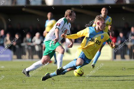 Bognor Regis Town midfielder James Fraser during the Ryman Premier League match between Bognor Regis Town and Canvey Island at Nyewood Lane, Bognor