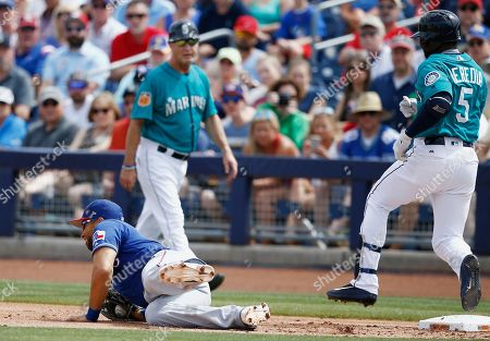 Editorial photo of Rangers Mariners Spring Baseball, Peoria, USA - 25 Mar 2017
