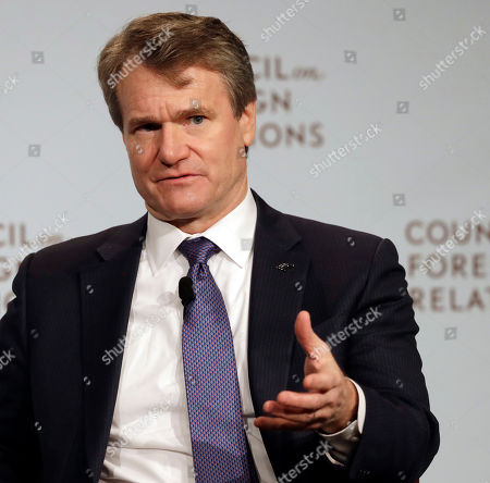 Brian Moynihan, Chairman and CEO of Bank of America, speaks at the Council on Foreign Relations in New York. Moynihan, who leads the largest company based in North Carolina, said he has spoken privately to business leaders who when elsewhere with project or events because of the controversy associated when the state passed the HB2 bill. The Associated Press has determined that North Carolina's law limiting LGBT protections will cost the state more than $3.76 billion in lost business over a dozen years