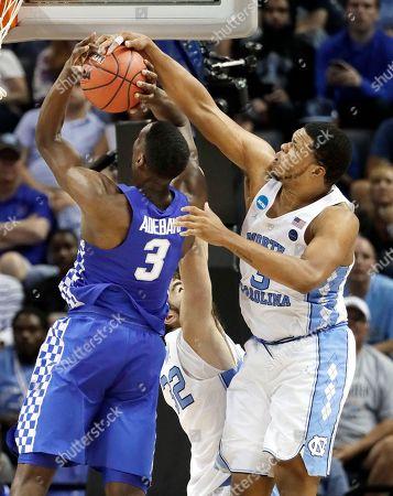 Editorial image of Kentucky Wildcats v North Carolina Tar Heels, NCAA basketball game, Memphis, USA - 26 Mar 2017