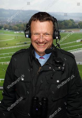 Stock Photo of Racing Commentator Richard Hoiles