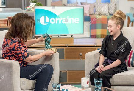 Lorraine Kelly and Jesse-Jane McParland