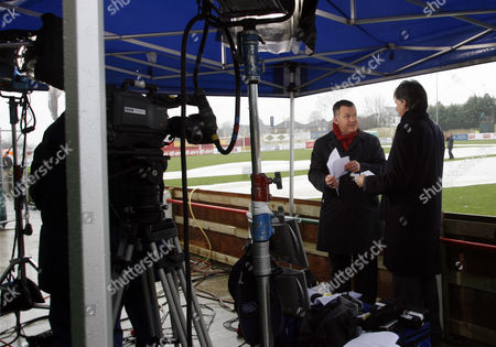 Ray Stubbs and Mark Lawrenson of the BBC at Station View, Home of Harrogate Railway