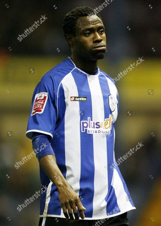 A dejected looking Akpo Sodje of Sheffield Wednesday