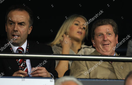 Fulham manager Roy Hodgson looks on alongside Chief Executive David McNally