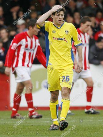 A dejected Ben Parker of Leeds United
