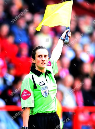 Amy Rayner, a female Assistant Referee