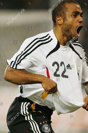 David Odonkor of Germany celebrates scoring his goal
