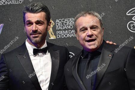 Claudio Amendola and Luca Argentero