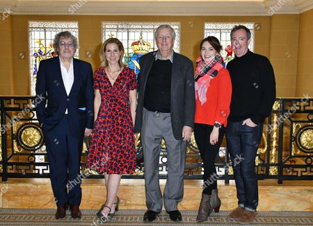 Stock Image of Ian La Frenais, Sally Phillips, Dick Clement, Kara Tointon, Vadim Jean