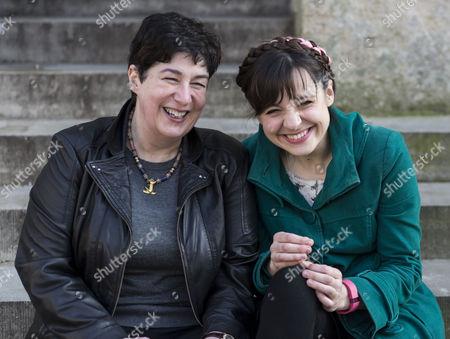 Joanne Harris and Dr. Eleanor Rosamund Barraclough