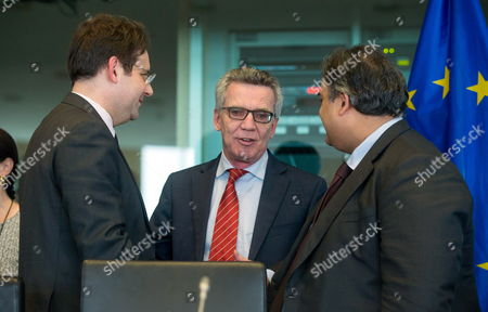 Matthias Fekl, Claude Moraes and Thomas De Maiziere