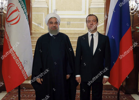 Editorial picture of Iranian President Hassan Rouhani pays official visit to Russia, Gorki, Russian Federation - 27 Mar 2017