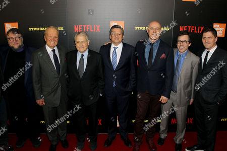 Guillermo Del Toro, George Stevens Jr, Lawrence Kasdan, Ted Sarandos (Netflix ChiefContent Officer),Laurent Bouzereau (Director), Mark Harris (Author, Writer), Ben Cotner (Netflix)