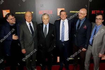 Guillermo Del Toro, George Stevens Jr, Lawrence Kasdan, Ted Sarandos (Netflix ChiefContent Officer), Laurent Bouzereau (Director), Mark Harris (Author, Writer)