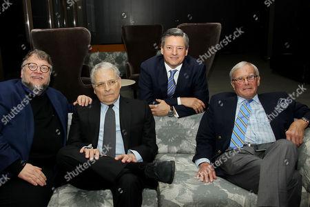 Guillermo Del Toro, Lawrence Kasdan, Ted Sarandos (Netflix ChiefContent Officer), Tom Brokaw