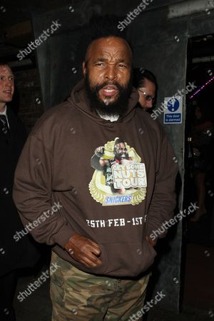 Editorial image of Mr T at No Nuts No Entry VIP Party, The Arches, London, Britain - 26 Feb 2009