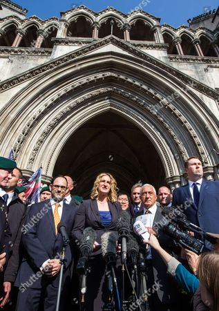 Claire Blackman,wife of Alexander Blackman,makes a statement outside the High Court, London, after Sergeant Blackman's appeal was successful. The court heard that he will be free within 2 weeks