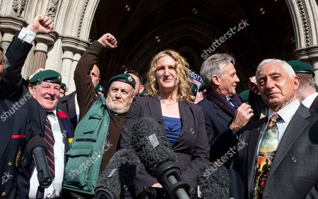 Claire Blackman,wife of Alexander Blackman,celebrates outside the High Court, London, after Sergeant Blackman's appeal was successful. The court heard that he will be free within 2 weeks
