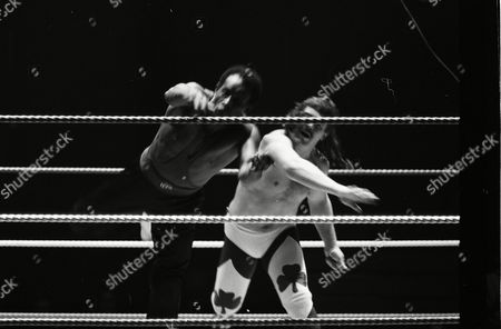 "Stock Image of Dave ""Fit"" Finlay vs ""Ironfist"" Clive Myers"
