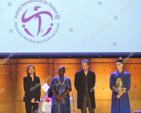 Stock Photo of Isabelle Huppert, Al Sydy, Maciej Stuhr, Zhang Jun