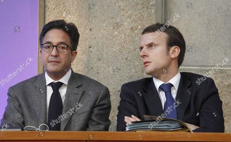 Aquilino Morelle and Emmanuel Macron