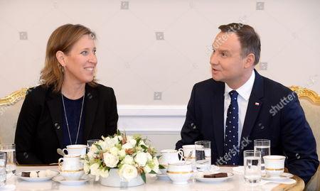 Susan Wojcicki and Andrzej Duda